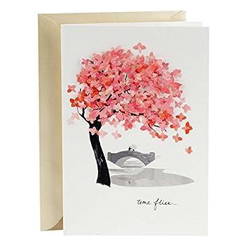 Hallmark Signature Love Card Time Flies  Romantic Anniversary Card or Birthday Card