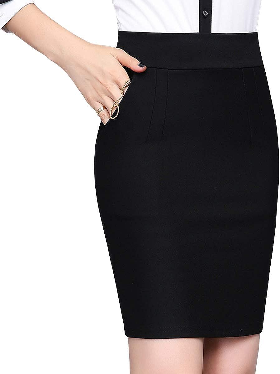 DISSA CA1116 Women Hight Waist Mini Pencil Skirt