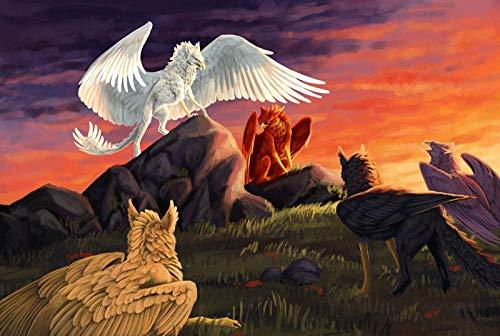 EXking Mythische Bestie Comic Sky Puzzle für Kinder Erwachsene, große pädagogische intellektuelle Gemälde Puzzle Spiel Spielzeug Geschenk für Spiel Home Wanddekoration