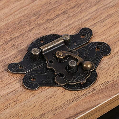 Socobeta cerrojo de pestillo, cierre de caja de joyería, cierre de gabinete, práctico duradero para caja de madera vintage para caja de joyería de madera resistente (Minni28* 23mm)