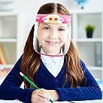 Pantallas Protectoras Faciales Niños, LETOUR 4 pcs Lindo Animal Pattern Protector Facial Niños, adec... #4