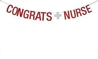 WeBenison Congrats Nurse Banner Congratulations Banner So Proud of You Future Nurses Medical School Nurse Grad Party Bunti...