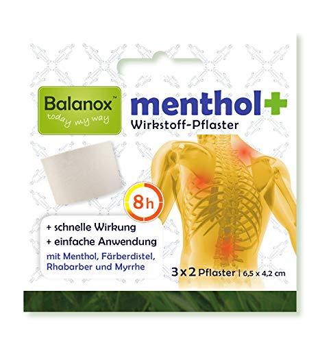 Balanox™ menthol+ Wirkstoff-Pflaster | Sport-Pflaster für Nacken, Schulter, Rücken, Glieder | wohltuend bei Verspannungen und akuten Belastungen