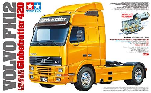 Tamiya 56312 1:14 Volvo FH12 Globetrotter 420 BS, Kit de Montaje para camión teledirigido, camión, Juguete de construcción, maquetas, Manualidades