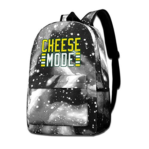 Lawenp Cheese Mode Galaxy Backpacks for School Travel Business Shopping Work Stylish Bags Casual Daypacks