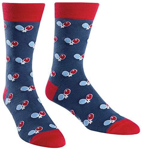Sock It To Me Ping-Pong-Crew-Socken, Tischtennis-Socken zum Herren Größe 7-13 Mehrfarbig