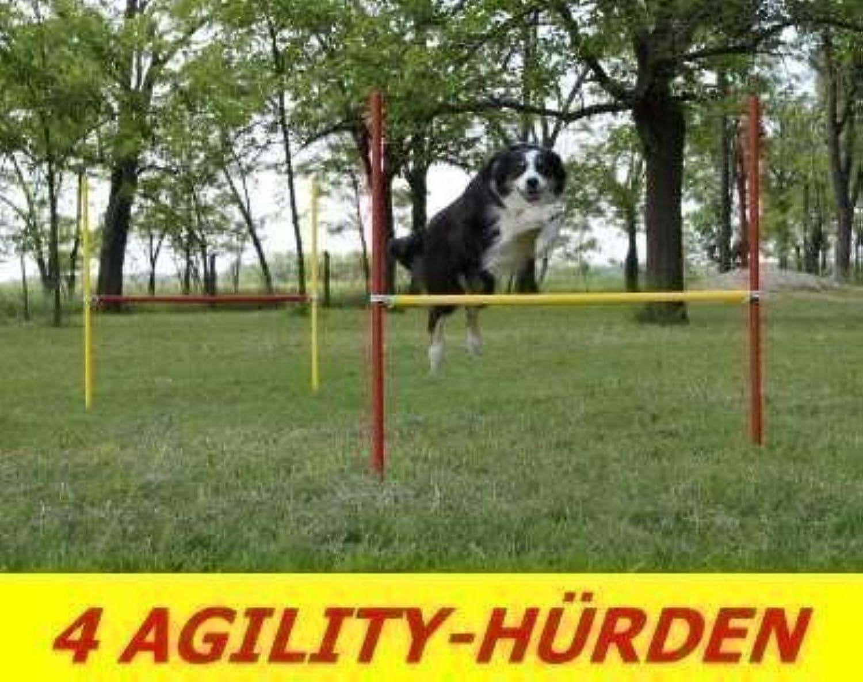 4 x Agility Training Hurdle Set, Red   Yellow