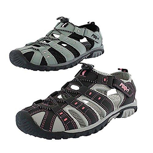 PDQ Sandalias de senderismo para mujer y niña, para verano, senderismo, playa, deportes, color Negro, talla 37 EU