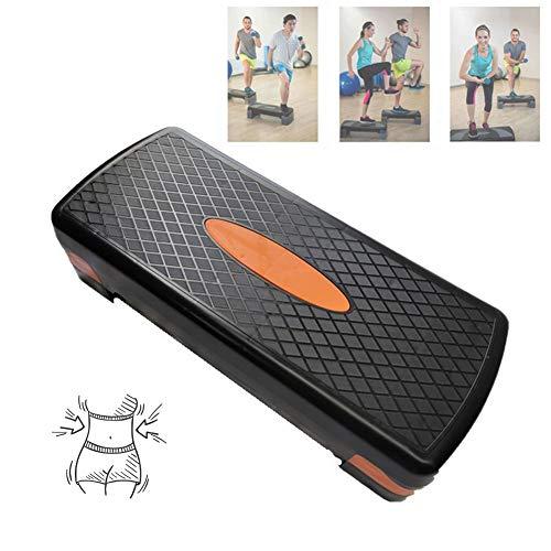 Verstelbare Aerobic Step, Aerobic Step Board Hoogte Verstelbaar 2 Niveau Aerobic Step Voor Thuis En Gym,Orange