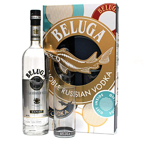 Geschenkset BELUGA Noble Russian Vodka mit Longdrink - Highball Glas (1 x 0,7L)