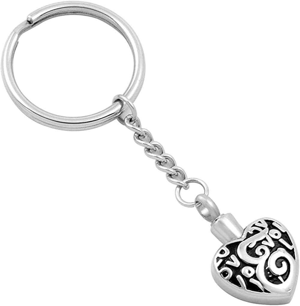GHAIMM Love Forever Heart Pendant Special Campaign Keychain Max 53% OFF Cremation Urn Memoria