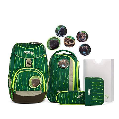 Ergobag Pack RambazamBär - Grün, ergonomischer Schulrucksack, Set 6-teilig, 20 Liter, 1.100 g, Grün