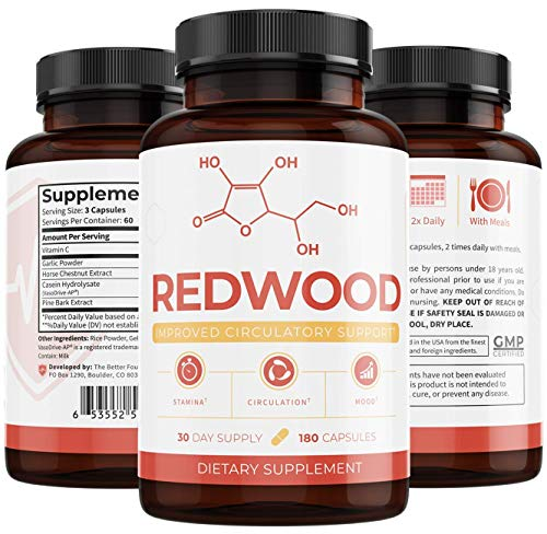 Redwood: Plant-Based Circulatory Support and Nitric Oxide Booster Works as a Powerful Muscle Builder...