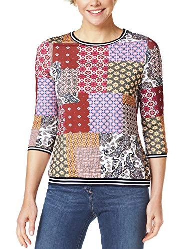 Walbusch Damen Blouson Shirt Lissabon gemustert Zimt Multicolor 40
