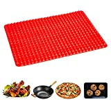 Pyramid Baking Mat - Libara, Silicone Fat Reducing Sheet, Large Size Non-Stick Pyramid Pan Grill Mat, Microwave Insulation Pads and Placemat