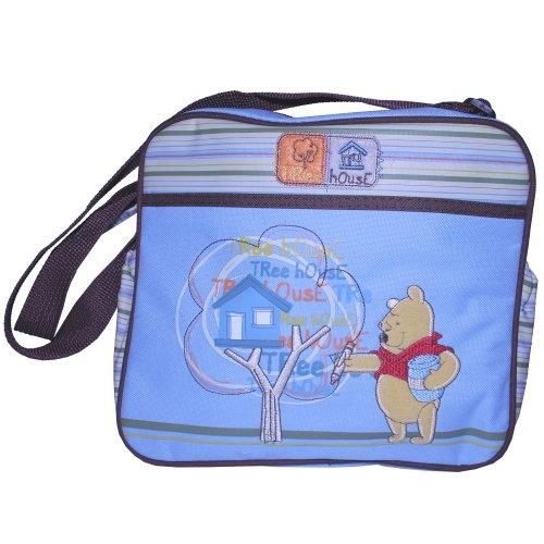 Winnie Pooh Wickeltasche klein blau gestreift