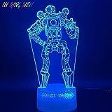 ZHFHA 3D Illusion Led Night Light Lamp Game Apex Legends Pathfinder Figure Birthday Gift for Kids Home Decoration Battle Royale