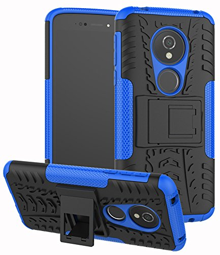 Moto G6 Play Case,Moto E5 5.7' Tracfone(XT1920DL), Moto G6 Forge case, Yiakeng Dual Layer Shockproof Wallet Slim Protective with Kickstand Phone Case Cover (Blue)