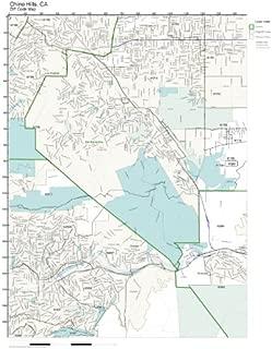 ZIP Code Wall Map of Chino Hills, CA ZIP Code Map Laminated