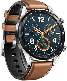 ساعة ذكية من هواوي بسوار من مواد مختلطة متوافقة مع اندرويد واي او اس، لون بني - FTN-B19