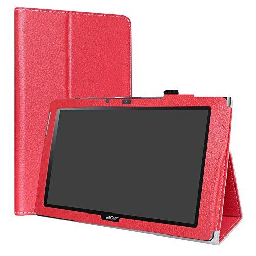 Acer Iconia One 10 B3-A40 Custodia,LiuShan slim Sottile Pieghevole con supporto in Piedi caso per 10.1  Acer Iconia One 10 B3-A40 Tablet,Rosso