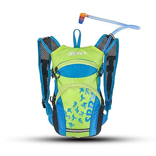 Source Jungen Spry Kids Trinkrucksack, Light Blue/Green, 1.5 Liter