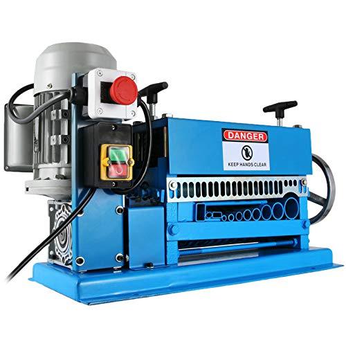 Mophorn Máquina Automática de Pelado de Cables 370W, Pelacables Eléctrico de 220V, Máquina Peladora de Cables con 11 Canales y 10 Cuchillas, Pelacables Eléctricos de Metal 15m/min 1,5-38mm
