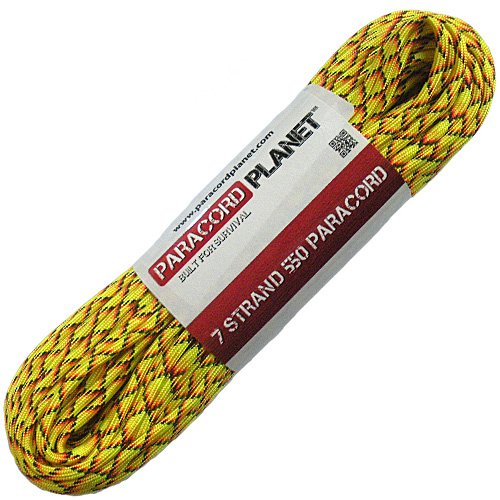 PARACORD PLANET en Nylon mil Spec Parachute Cordon 550 Paracorde Type III 7 brins Plus de 200 Couleurs 10 '000' Choix, Explode, 1000 Feet