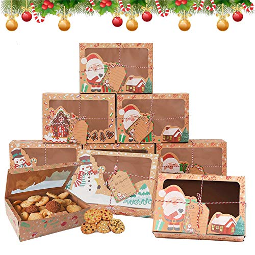 12 Stück Weinachten Schachtel,Keksschachtel Geschenkboxen Set,Weihnachten Keksschachtel,Papier DIY Faltboxen,Geschenkboxen Weihnachten,Verpackung Weihnachten