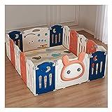 HDGAB Baby Playpen Safety Play Yard para Niños Pequeños, 14 + 2 Paneles Centro De Actividad para Niños Grandes con Puerta De Bloqueo Interior O Exterior, Bases De Goma Antideslizantes