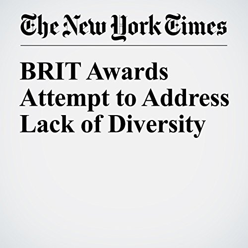 BRIT Awards Attempt to Address Lack of Diversity cover art