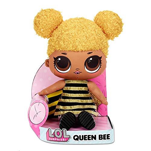LOL Surprise Queen Bee - Muñeca de Peluche Suave, Adorable, Abrazable, Juguete de Peluche, Muñeca Abrazable y Amable, Linda Muñeca para Niñas Pequeñas, Juguete para Niñas