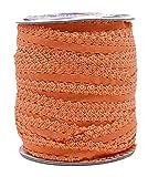 Mandala Crafts Elastic Lace Ribbon Decorative Stretch Trim for Elastic Headband, Lingerie, Sewing 1 Inch 55 Yards Roll Orange