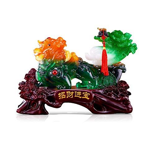 KGDC Escultura Ornamentos Feng Shui Lucky Pi Xiu Decoración Empresa Tienda Regalos de Apertura turística Pi Xiu decoración Colección decoración Crafts Decoración del Escritorio