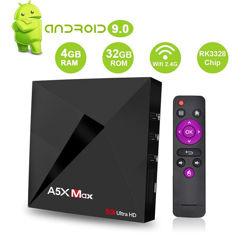 Android 9.0 TV Box SAMMIX A5X MAX RK3328 4GB+32GB Quad Cortex-A53 2.4G WiFi /4K/3D Smart TV Box WiFi Media Player ubihehe349236