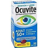 Ocuvite Eye Vitamin & Mineral Supplement, Contains Zinc, Vitamins C, E, Omega 3, Lutein, & Zeaxanthin, 50 Softgels