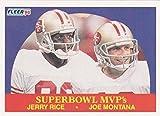 Jerry Rice and Joe Montana Football Card (San...