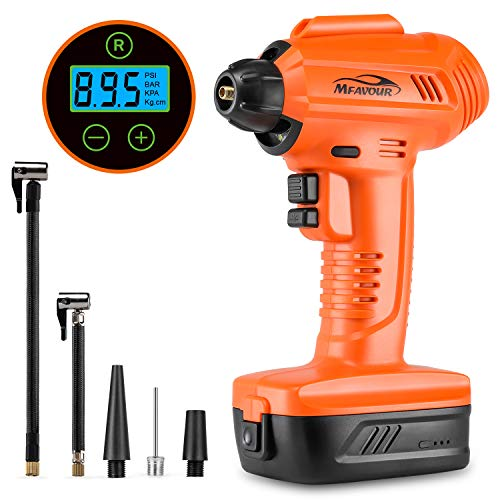 mfavour Car Tyre Inflator Air Compressor Cordless Handheld Electric Car Tyre...