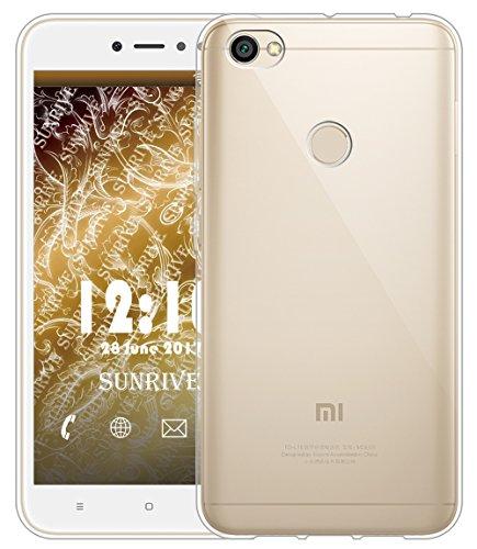 Sunrive Für Xiaomi Redmi Note 5A Prime Hülle Silikon, Transparent Handyhülle Schutzhülle Etui Case Backcover für Xiaomi Redmi Note 5A Prime 5,5 Zoll(TPU Kein Bild)+Gratis Universal Eingabestift