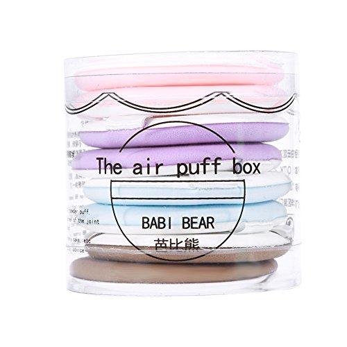 ANGGREK 8 Pcs Ronde Maquillage Poudre Puffs pour Poudre Fondation Doux BB Crème Air Coussin Air Puff Cosmétiques Outil