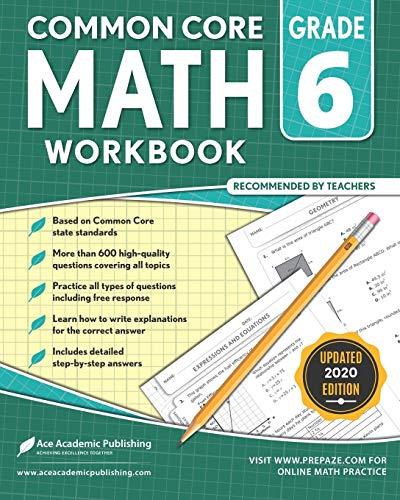 6th grade Math Workbook: CommonCore Math Workbook