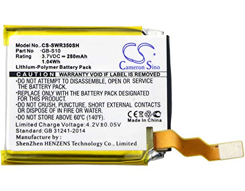 280mAh Replacement Battery for Sony SmartWatch 3, SWR50