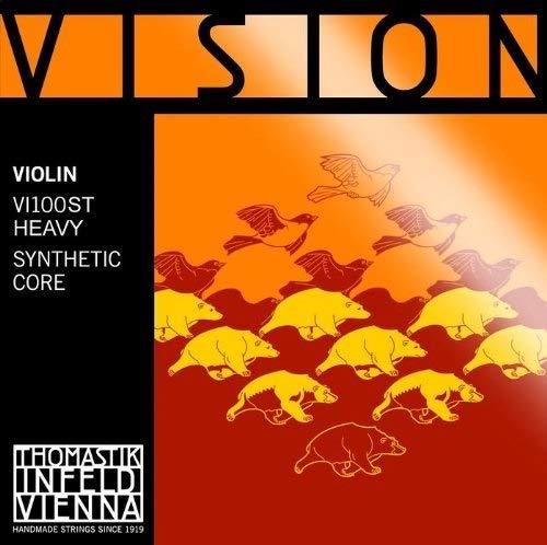 Thomastik Cuerdas para violín Vision Synthetic Core, juego 4/4 fuerte