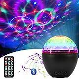 Luz de Bola de Discoteca Led 16 Colores, Pulchram Altavoz Bluetooth Lámpara de Discoteca Luz de Escenario Luz de Fiesta Giratoria con USB Control Remoto para Fiesta Bar de Navidad DJ Cumpleaños Boda