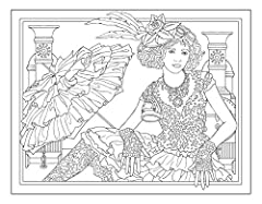 Creative Haven Steampunk Fashions Coloring Book (Creative Haven Coloring Books) #3