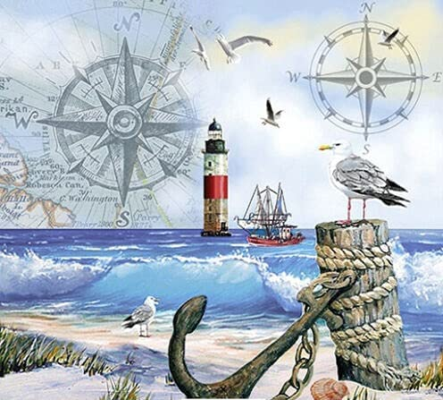 Set of 2 Individual Decoupage Paper Napkins Party Special sale item SEA Wate OCEAN service