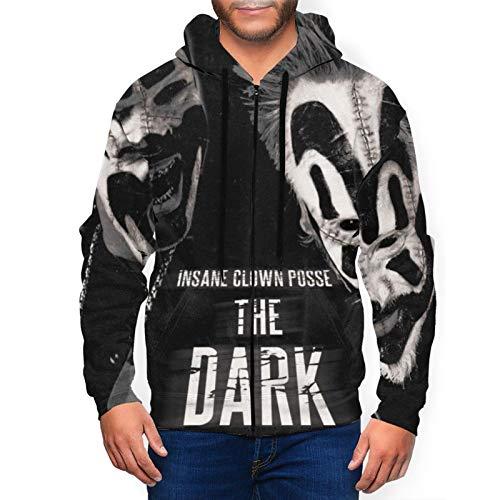 DemiWall Insane Clown Posse Men's Fashion 3D Printing Full Zip Jersey Hoodie Medium Black