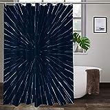 Warp Stars Zoom Blue Galaxy War Star bunter Duschvorhang Badezimmer Polyester Stoff Liner Duschvorhang mit Haken 152,4 cm B x 182,9 cm H