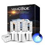 VehiCode 12-24v 1141 1156 1003 1295 93 LED Bulb Blue 105 3497 Light Replacement for Car RV Camper Trailer Boat Marine Interior Dome Exterior Porch Utility Outdoor Malibu Landscape Lamp (4 Pack)