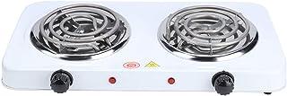 Double plaque chauffante pour la cuisson, 2 brûleurs de comptoir de table de cuisson portable avec brûleur électrique 2000...